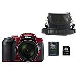 Nikon Coolpix B700 Rouge + Etui CSP-08 + Carte SD + Batterie EN-EL23