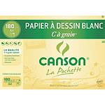 "Canson Pocket White Bolsa de papel para dibujo de grano ""C"" (A4)"
