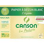 "Canson Pocket White ""C"" Bolsa de papel para dibujo de grano (24 x 32)"