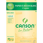 "Canson Pocket White Bolsa de papel para dibujo de grano ""C"" (A3)"