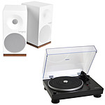 Audio-Technica AT-LP5 Noir + Tangent Spectrum X5 BT Phono Blanc