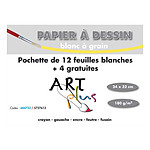 Art Plus Pochette Papier dessin Blanc à grain (24 x 32)