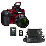 Nikon Coolpix B700 Rouge + CS-P08 Noir + ALM0016C10 + EN-EL23