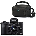 Canon EOS M50 Noir + EF-M 15-45 mm IS STM Noir + Lowepro Format 100 Noir
