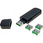 Kit de verrouillage pour 4 ports USB (vert)
