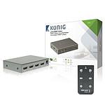König Switch HDMI 4 ports avec télécommande
