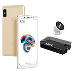 Xiaomi Redmi Note 5 Or (3 Go / 32 Go) + LDLC Power Bank QS10K + Auto S1