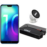 Honor 10 Bleu + LDLC Power Bank QS10K + Auto S1
