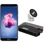 Huawei P Smart Bleu + LDLC Power Bank QS10K + Auto S1