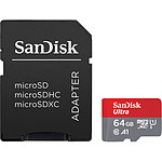 SanDisk Ultra microSDXC UHS-I U1 64 Go + Adaptateur SD