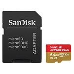 SanDisk Extreme Plus microSDXC UHS-I U3 A2 V30 64 Go + Adaptateur SD