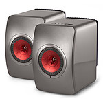 KEF LS50 Wireless Gris titane / Bordeaux