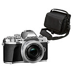 Olympus E-M10 MK III Argent + 14-42mm EZ Pancake + OM-D Taille M