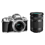 Olympus E-M10 MK III Argent + 14-42mm + 40-150mm R + OM-D Taille M