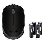 Logitech M171 Wireless Mouse + 4 piles LDLC+ AA LR6 OFFERTES !
