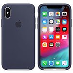 Apple Coque en silicone Bleu Nuit Apple iPhone Xs