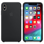 Apple Funda de silicona negra Apple iPhone Xs Max