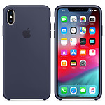 Apple Coque en silicone Bleu Nuit Apple iPhone Xs Max