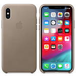 Apple Coque en cuir Taupe Apple iPhone Xs