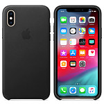 Apple Coque en cuir Noir Apple iPhone Xs