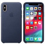 Apple Coque en cuir Bleu Nuit Apple iPhone Xs