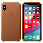 Apple Coque en cuir Havane Apple iPhone Xs