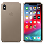 Apple Coque en cuir Taupe Apple iPhone Xs Max