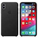 Apple Coque en cuir Noir Apple iPhone Xs Max
