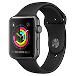 Apple Watch Series 3 GPS Aluminio Aluminio Lado Gris Deporte Negro 42 mm