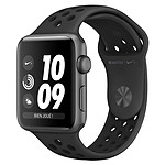 Apple Watch Nike+ Series 3 GPS Aluminium Gris Sidéral Sport Noir 38 mm