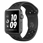 Apple Watch Nike+ Series 3 GPS Aluminium Gris Sidéral Sport Noir 42 mm