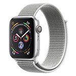 Apple Watch Series 4 GPS Aluminium Argent Boucle Sport Coquillage 40 mm