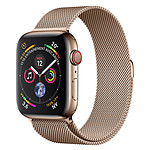 Apple Watch Series 4 GPS + Acero celular Milanese Gold 44 mm Gold