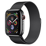 Apple Watch Series 4 GPS + Cellular Acier Noir Milanais Noir 44 mm
