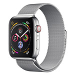 Apple Watch Series 4 GPS + Cellular Acier Argent Milanais 40 mm