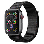 Apple Watch Series 4 GPS + Cellular Aluminium Gris Boucle Sport Noir 44 mm