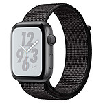 Apple Watch Nike+ Series 4 GPS Aluminium Gris Boucle Sport Noir 40 mm