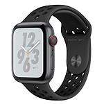 Apple Watch Nike+ Series 4 GPS + Cellular Aluminium Gris Sport Anthracite/Noir 40 mm
