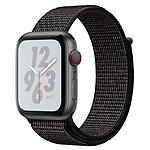 Apple Watch Nike+ Series 4 GPS + Cellular Aluminium Gris Boucle Sport Noir 40 mm