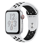 Apple Watch Nike+ Series 4 GPS + Cellular Aluminium Argent Sport Platine pur/Noir 44 mm