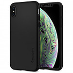 Spigen Thin Fit 360 + Vitre de protection iPhone X / Xs