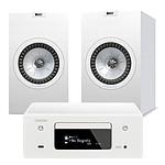 Denon CEOL N10 Blanc + KEF Q350 Blanc