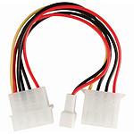 Adaptateur Molex mâle vers Molex femelle Connecteur ventilateur 3 broches
