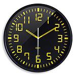 Orium Silent Clock Contrast Negro/amarillo