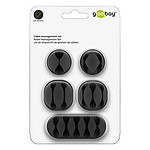 Goobay Set Cable Management - Noir
