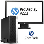 HP ProDesk 400 G5 (4CZ83ET) + HP ProDisplay P223 + tapis de souris + HP Care Pack U6578A