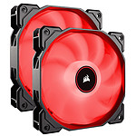 Corsair Air Series AF140 Low Noise - Rouge (par 2)
