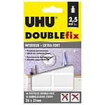 UHU Doublefix 16 Pastilles Extra-fortes