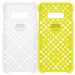 Samsung Funda perforada blanco y Amarillo Samsung Galaxy S10e