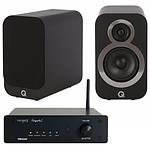 Tangent Ampster BT + Q Acoustics 3010i Noir